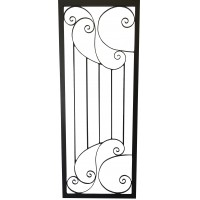 Scroll Art Deco style welded door
